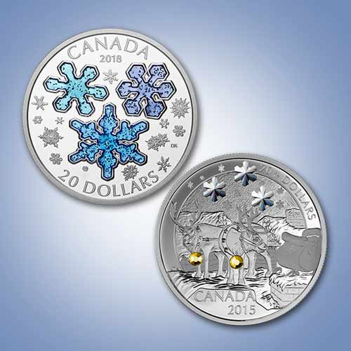 Celebrating-Christmas-and-Snow-on-coins!