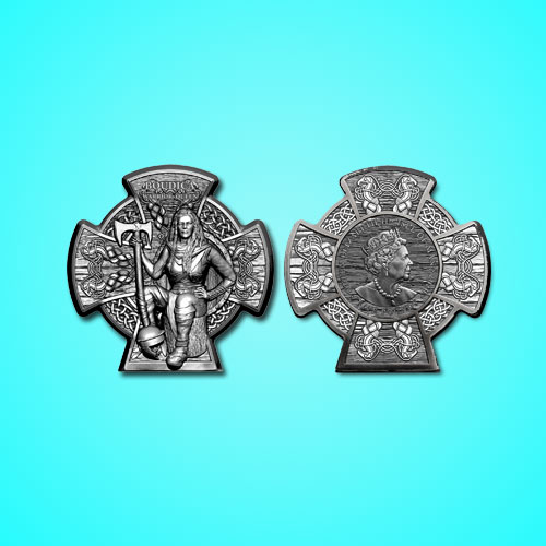 Celtic-Warrior-Queen-Boudica-on-Isle-of-Man-Coin