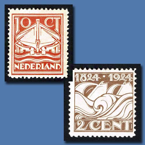 Centenary-Stamps-of-Royal-Dutch-Lifeboat-Society