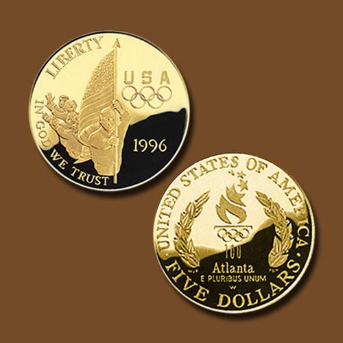 Centennial-Olympics-Flag-Bearer-Gold-5-Dollar