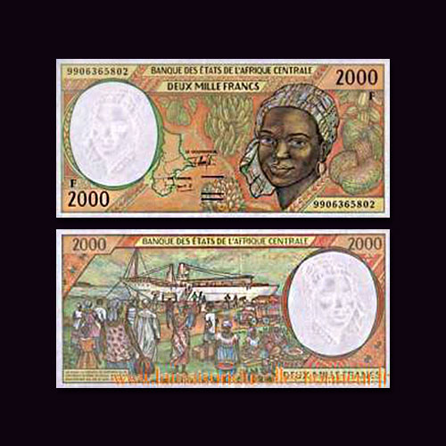 Chad-2000-Francs-banknote-of-1997