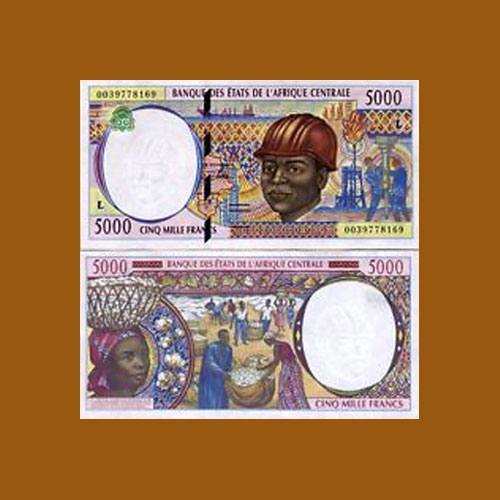Chad-5000-Francs-banknote-of-1999