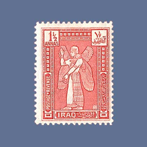 Cherub-Featured-on-the-First-Stamp-of-Kingdom-of-Iraq