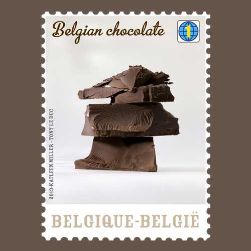 Chocolate-on-stamps