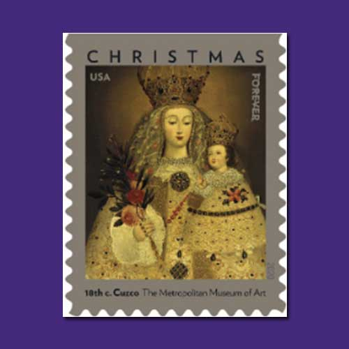 Christmas-celebrated-on-stamp