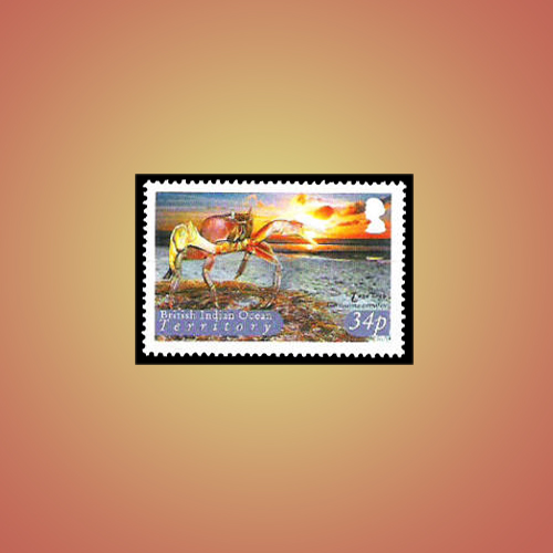 Coconut-Crab-Stamp-from-British-Indian-Ocean-Territory