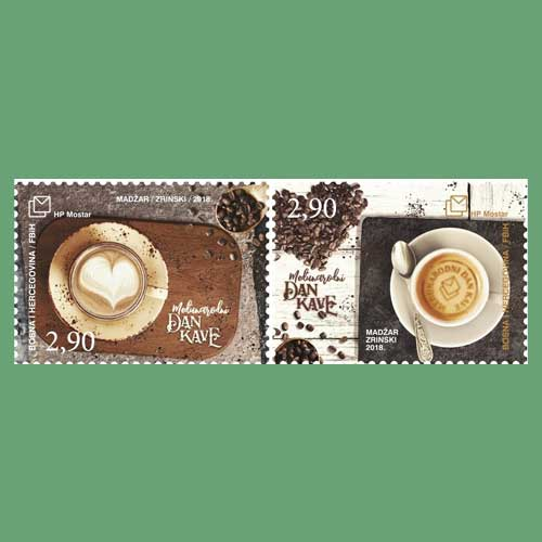 Coffee-on-Croatian-Stamps