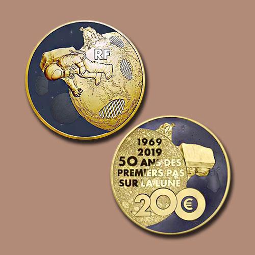 Coins-celebrating-Apollo-11-lunar-landing