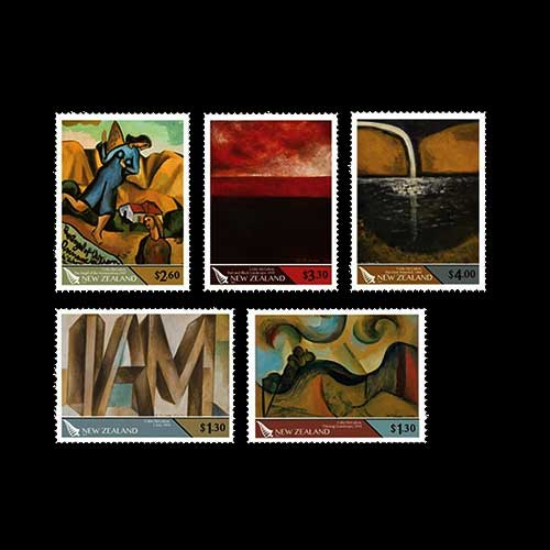 Colin-McCahon-o-New-Zealand-Stamp