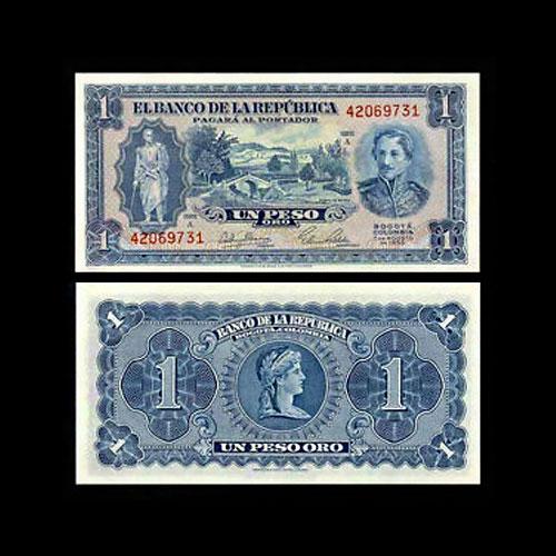 Colombia-1-Peso-Oro-banknote-of-1953