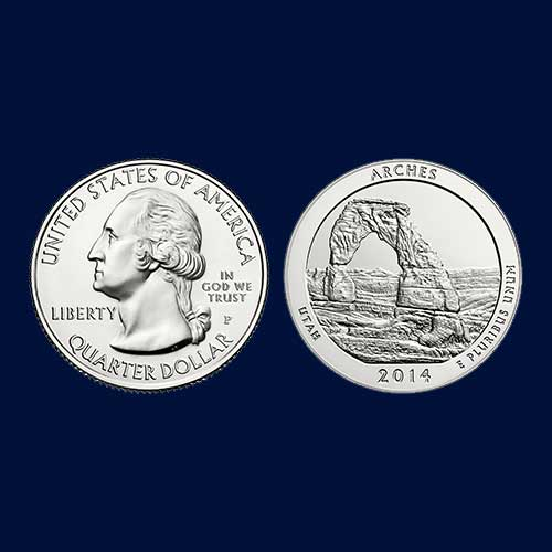 Commemorative-Coin-of-Arches-National-Park-of-United-States