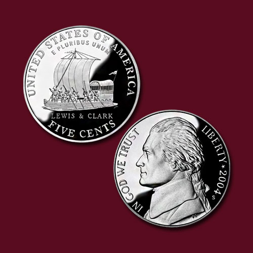 Commemorative-Coin-on-Keelboat