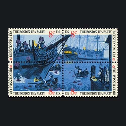 Commemorative-Stamp-on-Boston-tea-party