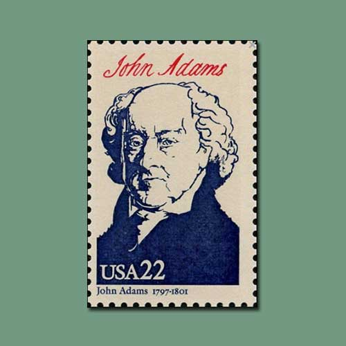 Commemorative-Stamps-of-United-States-President-John-Adams