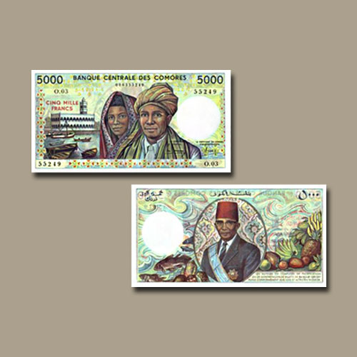 Comoros-5000-Francs-banknote-of-1984-–-2005