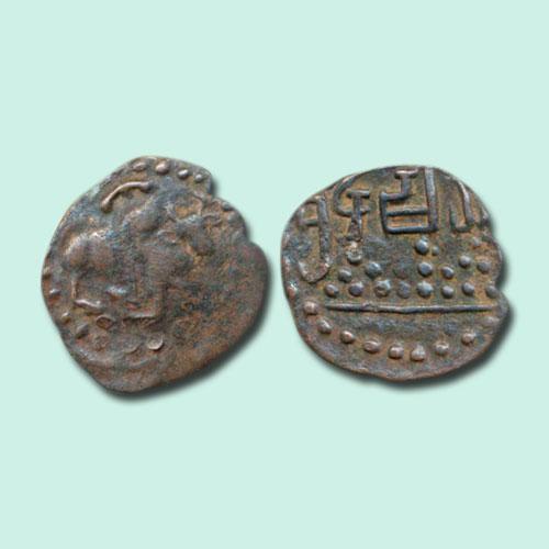 Copper-coin-of-Kalchuris-of-Mahishmati