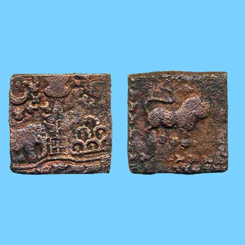 Copper-coin-of-Sangam-Chola-Period