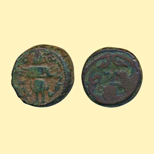 Copper-Coin-of-Vijaynagar-ruler-Sadasiva-Raya