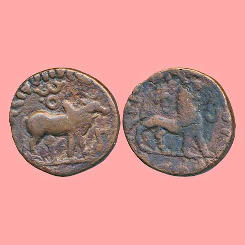 Copper-Drachm-of-Indo-Scythians-ruler-Zeionise
