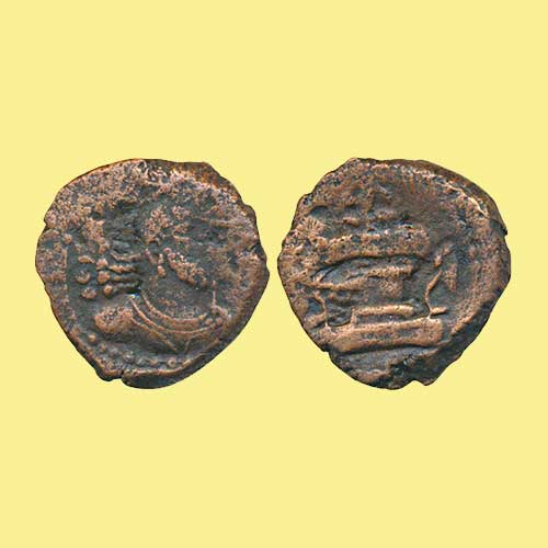 Copper-Drachm-of-king-Shapur-I-of-Kushano-Sasanian