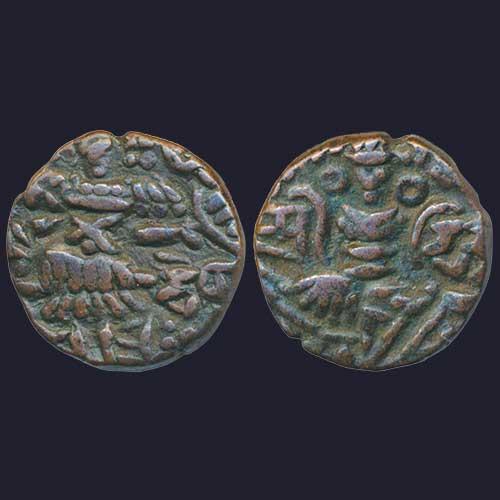 Copper-Drachma-of-Kashmir-ruler-Rani-Didda