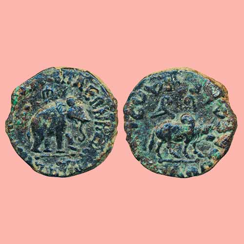 Copper-Pentachalkon-of-Indo--Scythians-King-Azes-II