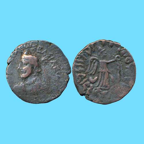 Copper-Tetradrachm-of-Indo-Parthian-King-Orthagnes