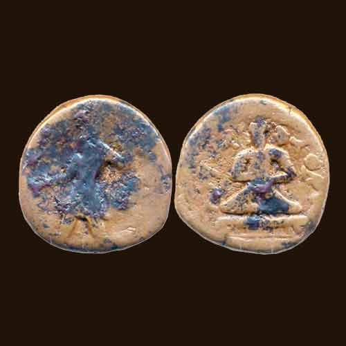 Copper-Tetradrachm-of-Kushan-King-Kanishka-I
