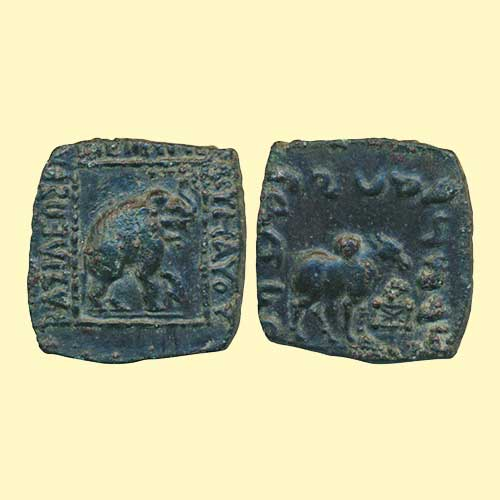 Copper-unit-of-Indo-Scythians-ruler-Maues