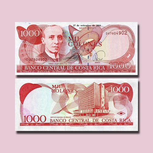 Costa-Rica-1000-Colones-banknotes-of-2004