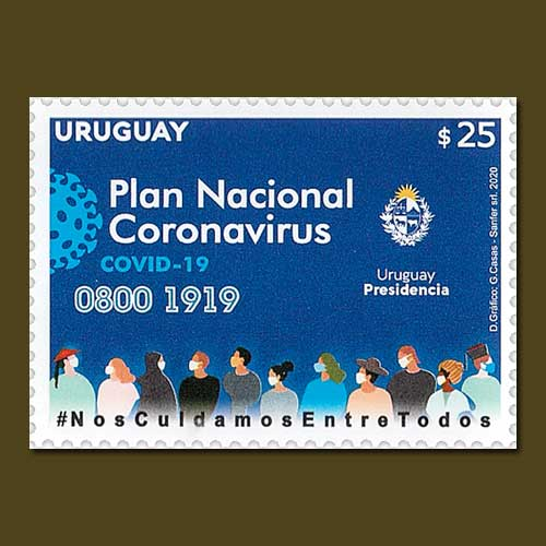 Covid-19-Uruguay-Commemorative-Stamp