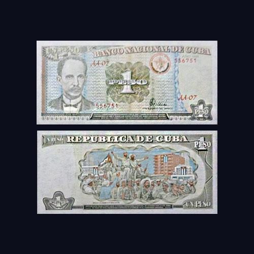 Cuba-1-Peso-banknote-of-1995