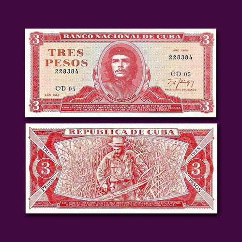Cuba-3-Pesos-banknote-of-1988
