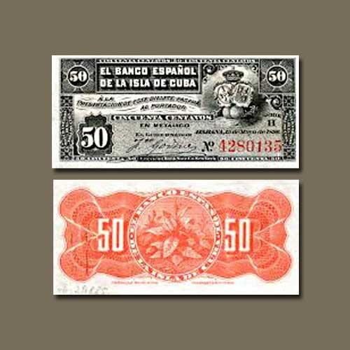 Cuba-50-Centavos-banknote-of-1896