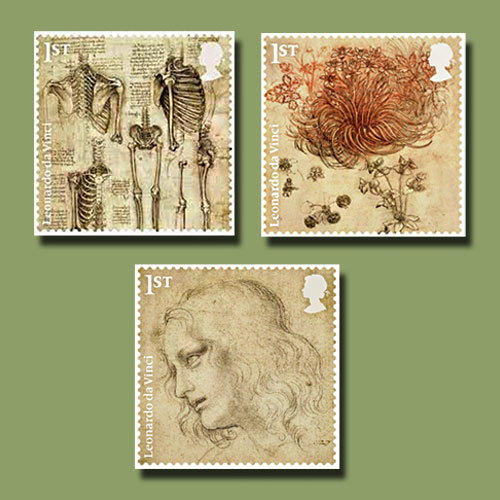 Da-Vinci's-Drawings-Featured-by-Royal-Mail