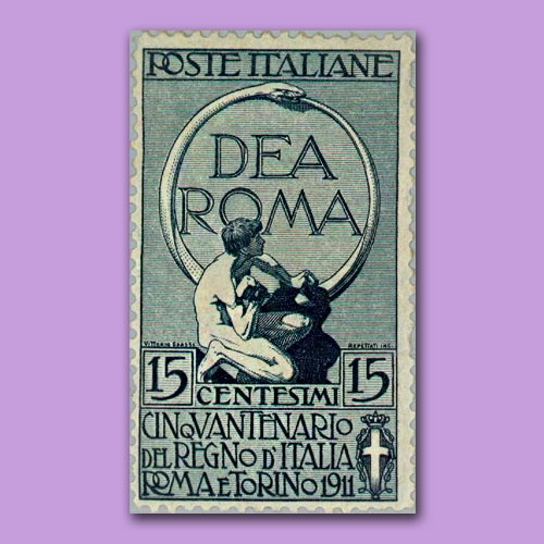 Dea-Roma-Stamp-of-Italy