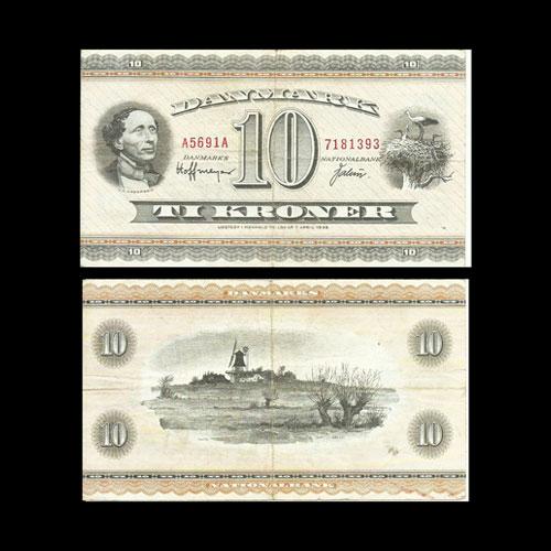 Denmark-10-Kroner-banknote-of-1950-1974