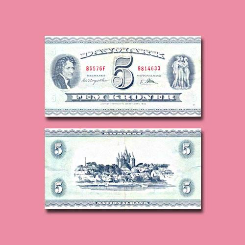 Denmark-5-Kroner-banknote-of-1950-1960