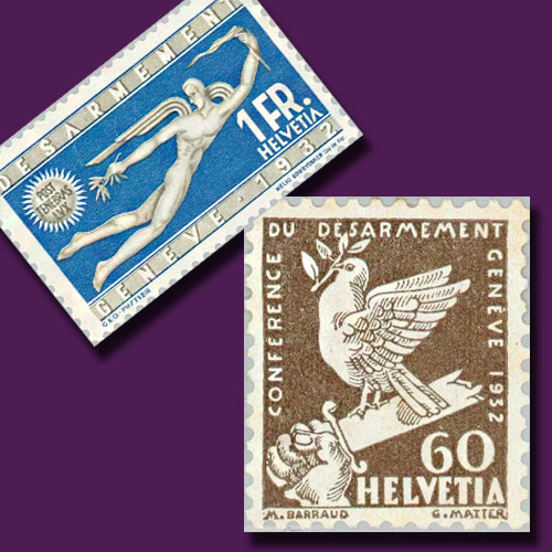 Disarmament-Stamps-of-Switzerland