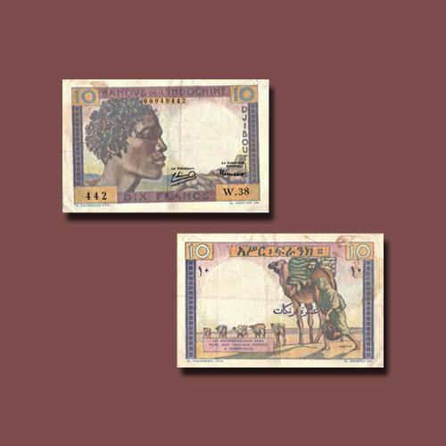 Djibouti-10-Francs-banknote-of-1946