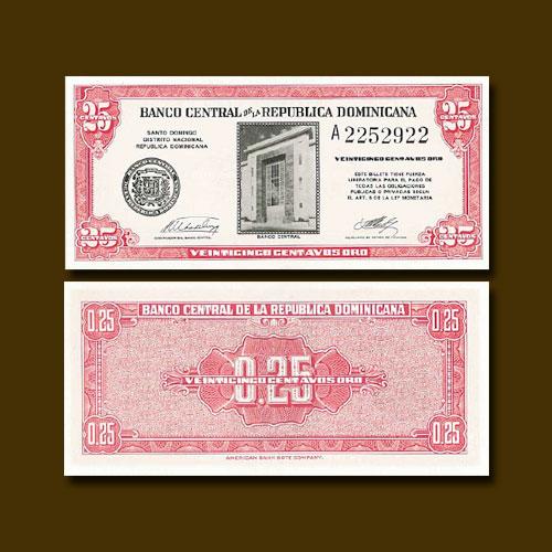 Dominican-Republic-25-Centavos-Oro-banknote-of-1961