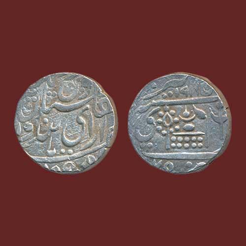 Dungar-Singh's-silver-Rupee-of-Bikaner-mint