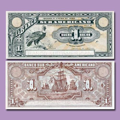 Ecuador-1-Sucre-banknote-of-1920