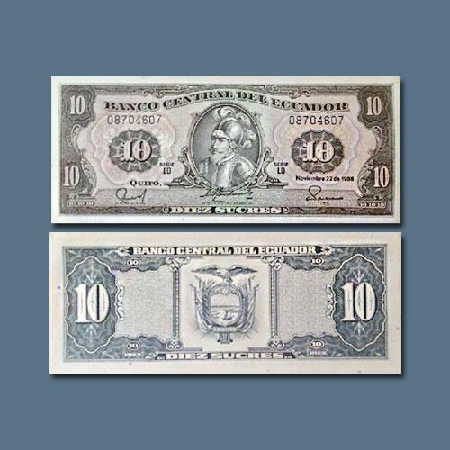 Ecuador-10-Sucres-banknote-of-1988