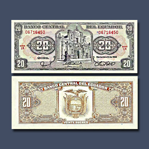 Ecuador-20-Sucres-banknote-of-1988