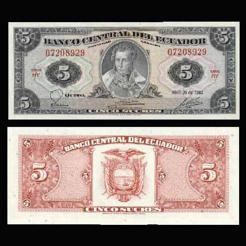 Ecuador-5-Sucres-banknote-of-1983
