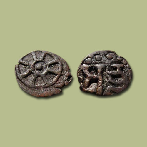 Eight-spoke-wheel-on-ancient-Indian-coins