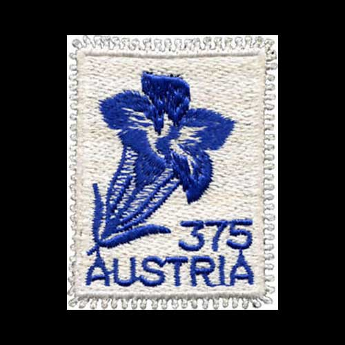 Embroidered-stamp-of-Austria