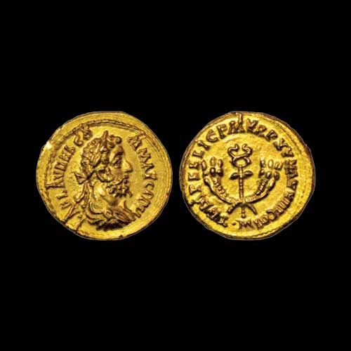 Emperor-Commodus'-gold-Aureus-sold-for-INR-1,-00,000
