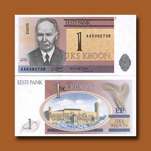 Estonia-1-Kroon-banknote-of-1992